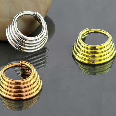 Titanfünfling-Scheidewand Clicker Ring