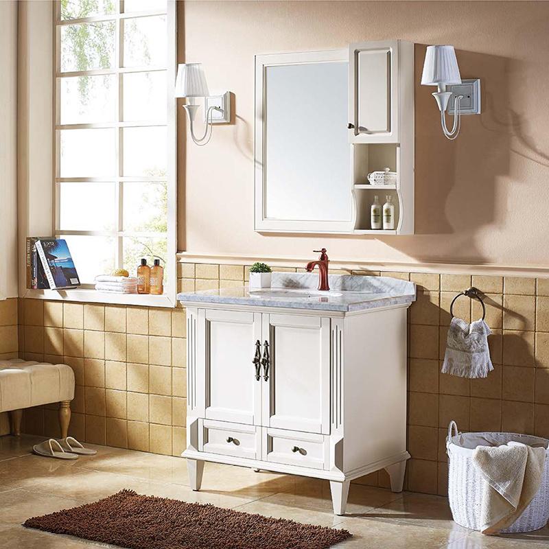 Mercancías sanitarias de madera de Vanityt de cuarto de baño del cuarto de  baño rústico de la cabina (GSP14-004)