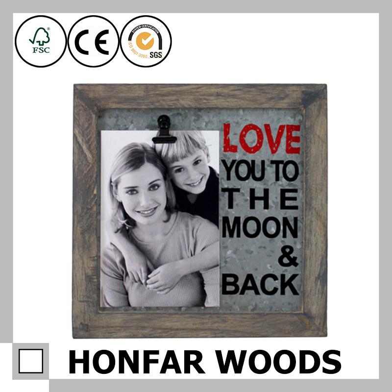 El Marco de imagen de madera rústica personalizado para la ...