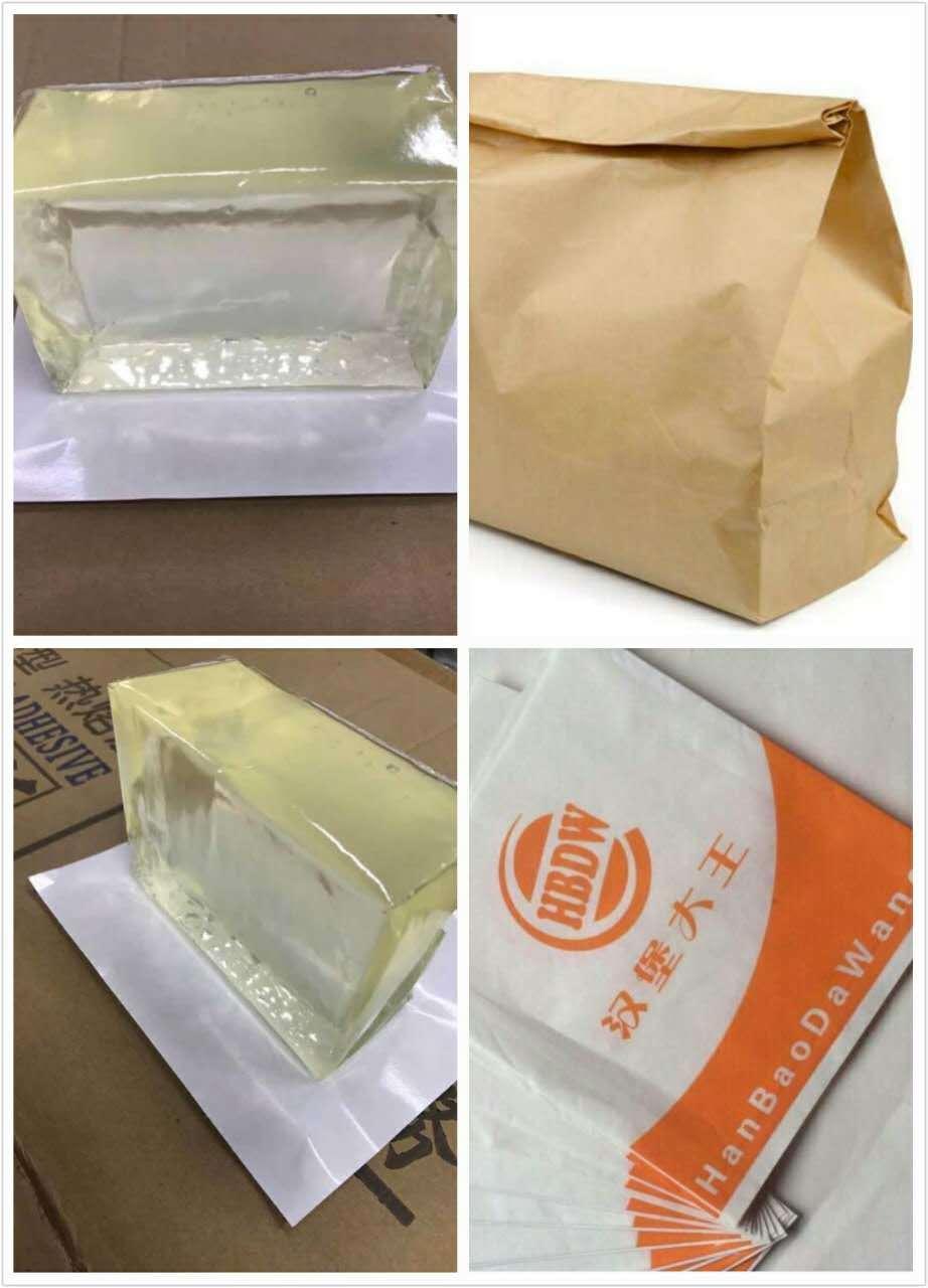Foto de saco de hamb rguer de papel cola termofus vel - Cola para papel ...