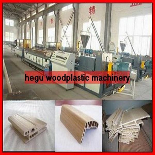 PVC 나무 플라스틱 창턱 단면도 생산 라인