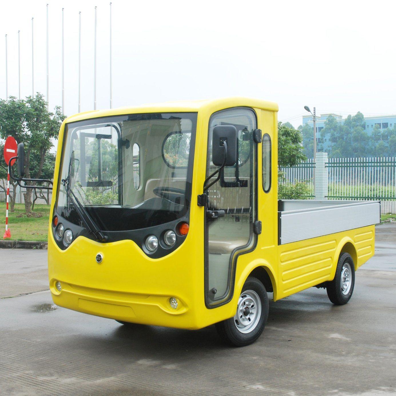 De Kleine Elektrische Auto Van Het Nut Van De Vrachtwagen Van De