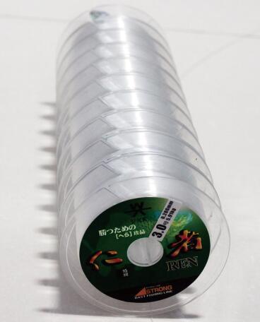De nylon Monofilament Vislijn pakte 10*100m Verbonden Spoel in