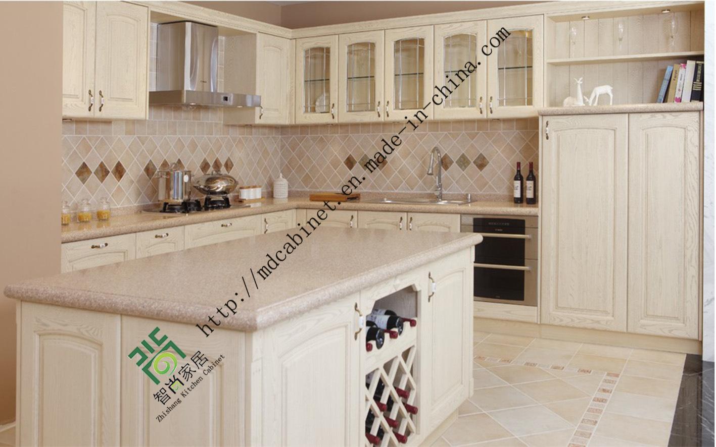 Foto de 2015 Nuevo Diseño de Muebles de Cocina de PVC blanco (ZS-250 ...