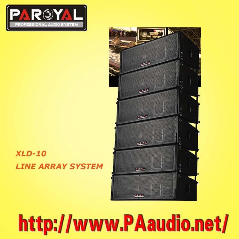 Matriz de Linha Dual Woofer 10 Polegadas Xld10 sistema de coluna linear
