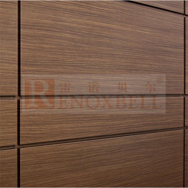 panneau en aluminium en aluminium en bois pour dcoration murale intrieure en mtal - Panneau De Bois Decoratif Interieur