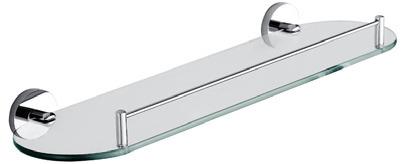 Banho de aço inoxidável série Conexões de prateleira de vidro