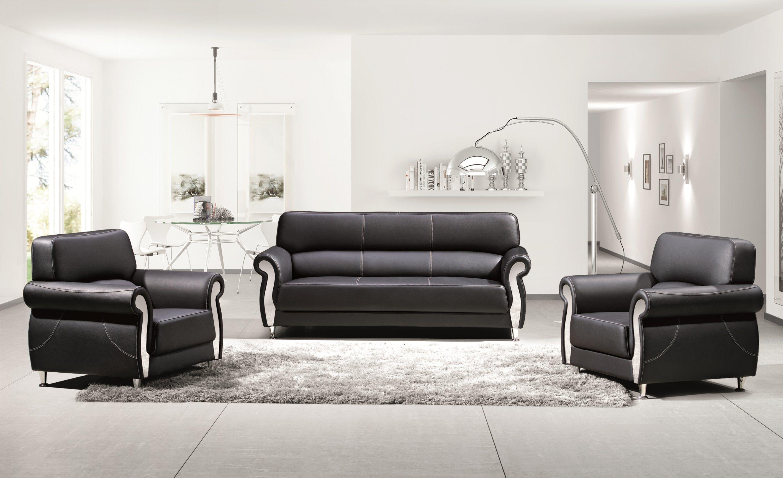 Moderne et confortable coin en acier inoxydable noir accueil bureau