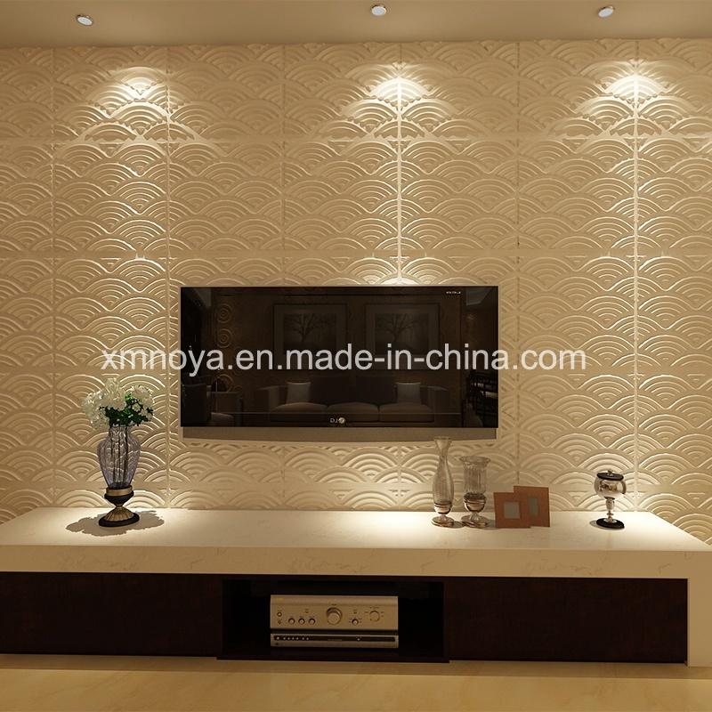 Mur décoratif acoustique 3D Conseil pour la salle de séjour TV ...