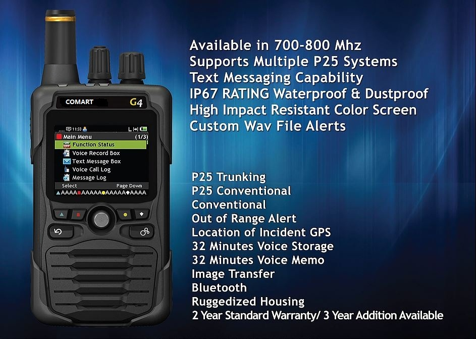 Pager серии VHF&UHF цифров Comart g, Pager пожара голоса P25&Dmr