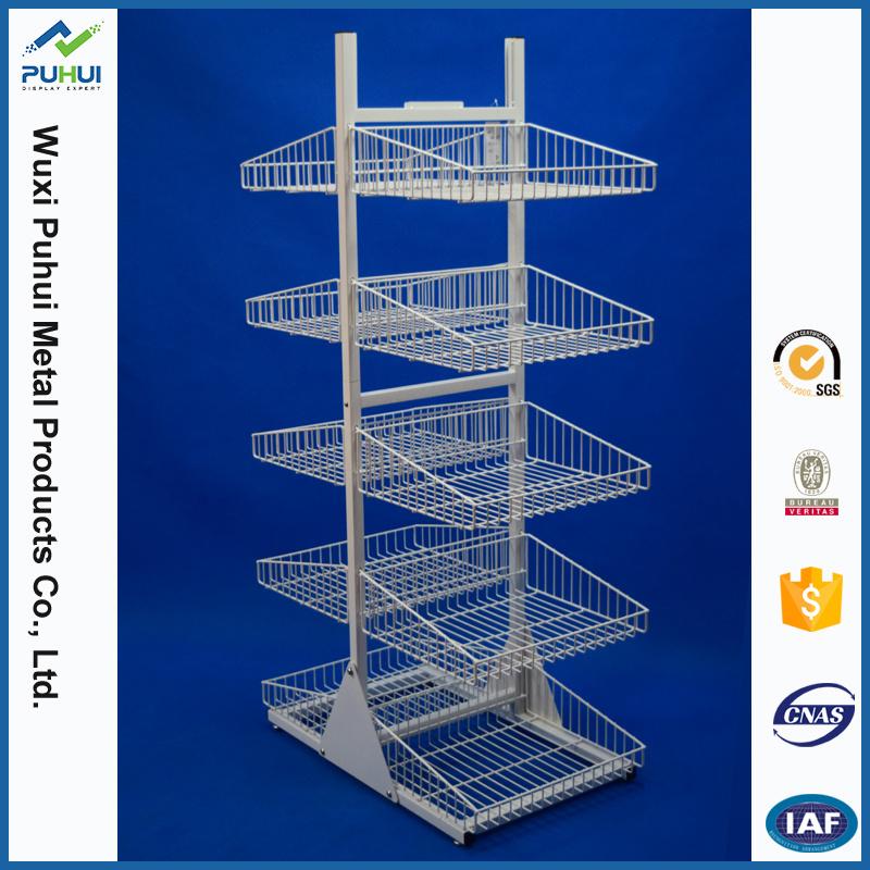 Double faces les aliments pour animaux de la Promotion de vente au détail d'affichage de Rack en métal (PHY3008)