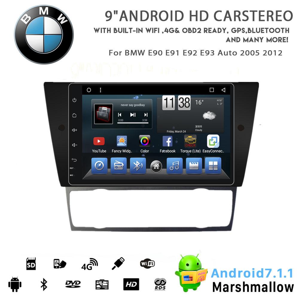 Video dell'automobile DVD del Android 8.1 di Otto-Memoria di Vshauto per l'automobile 2005 2012 di BMW E90 E91 E92 E93
