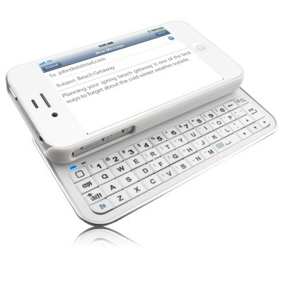 滑らせるiPhone4 /4s (KRSK01)のためのBluetoothのキーボードの箱を