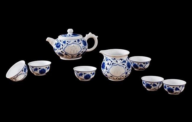 Venda a quente Cerami chaleira e copos de chá