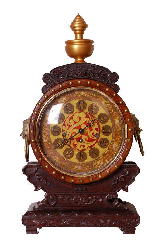 置時計/時計の/Antiqueの木の時計または机の時計