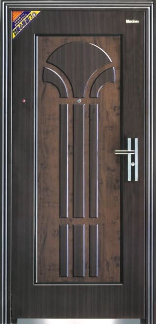 Calor transferir la puerta de entrada del metal de la for Puertas de metal para interiores