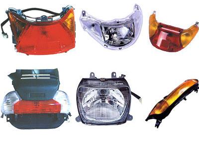 De Lampen van de motorfiets