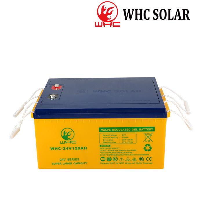 Nuevo Whc UPS Cargador de baterías de gel de ciclo profundo 24V 120Ah batería