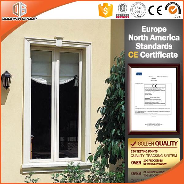 Stoffa per tendine di alluminio Windows di colore bianco con il vetro  temperato, finestra di legno della stoffa per tendine di colore per la  camera da ...
