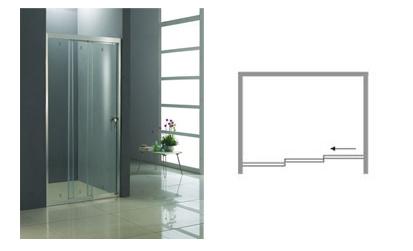 接続動かしなさいドアのシャワー・カーテン(KD4101)を