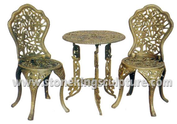 Foto de Sillas de jardín de hierro fundido Conjunto de muebles de ...