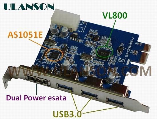 PCI-E USB3.0+eSATA/Tarjeta de SATA 3.