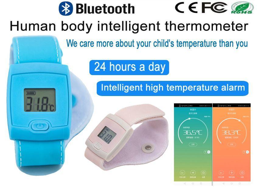 Smart температуры браслет Bluetooth Термометр Термометр для детей Smart телефон APP контроль в реальном времени температуры тела