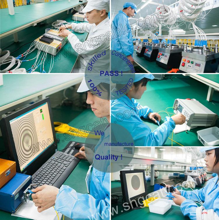 Haute qualité en fibre optique monomode avec cordon de raccordement SC FC Connecteur LC