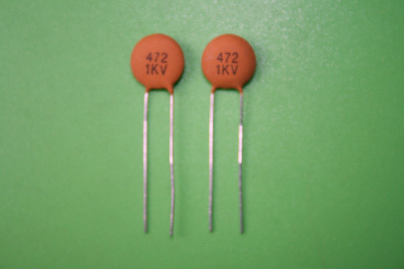 高圧陶磁器のコンデンサー 472k Y5p 1kv 高圧陶磁器のコンデンサー 472k Y5p 1kv により