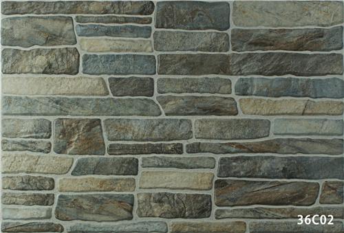 Tegel van de muur van de steen van het porselein de rustieke