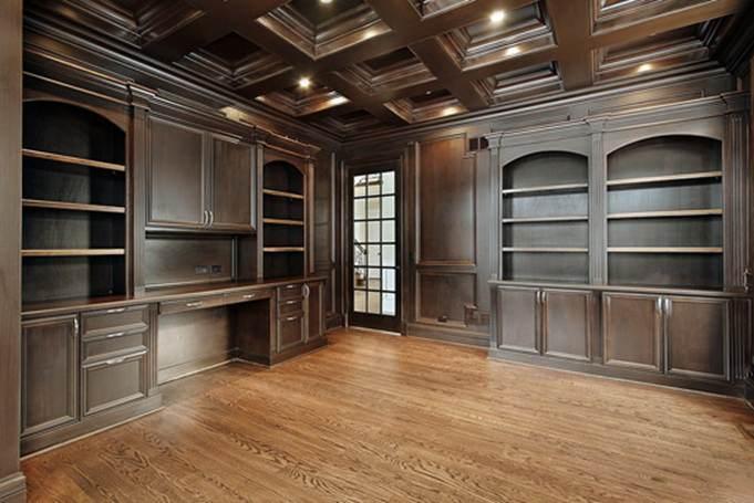 Armarios de madera maciza para oficina con armarios de vidrio templado armarios de madera - Armarios de oficina ...