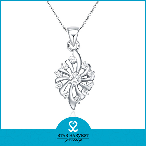 Mode Oval 925 Sterling Silver Pendant mit Cheap Price (N-0016)