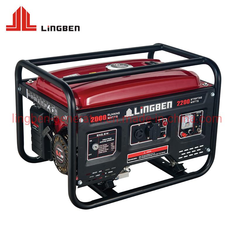168f de l'essence de l'alimentation électrique du générateur d'accueil de l'essence portable