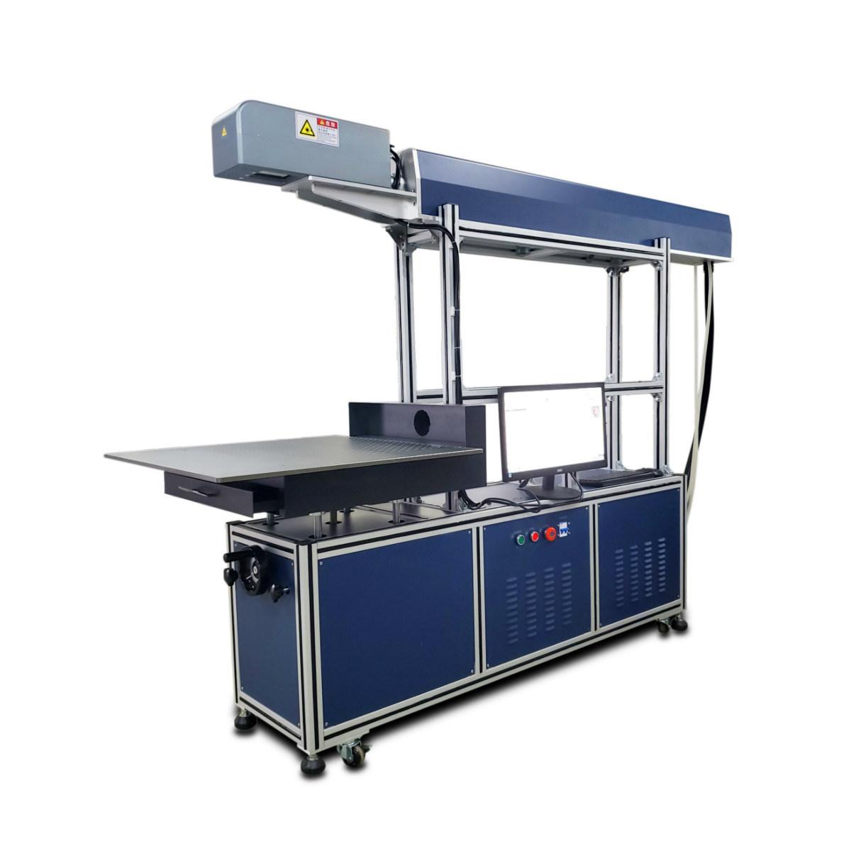일련 번호 청바지 서류상 카드 가죽 피복 아크릴 음식 및 음료 Ind를 위한 Dynamic400*400 mm Reci 유리관 100W 150W 이산화탄소 Laser 표하기 기계
