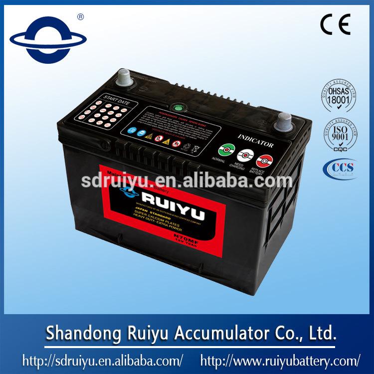 N70 12V 70AH Японии стандартные батареи автомобиля