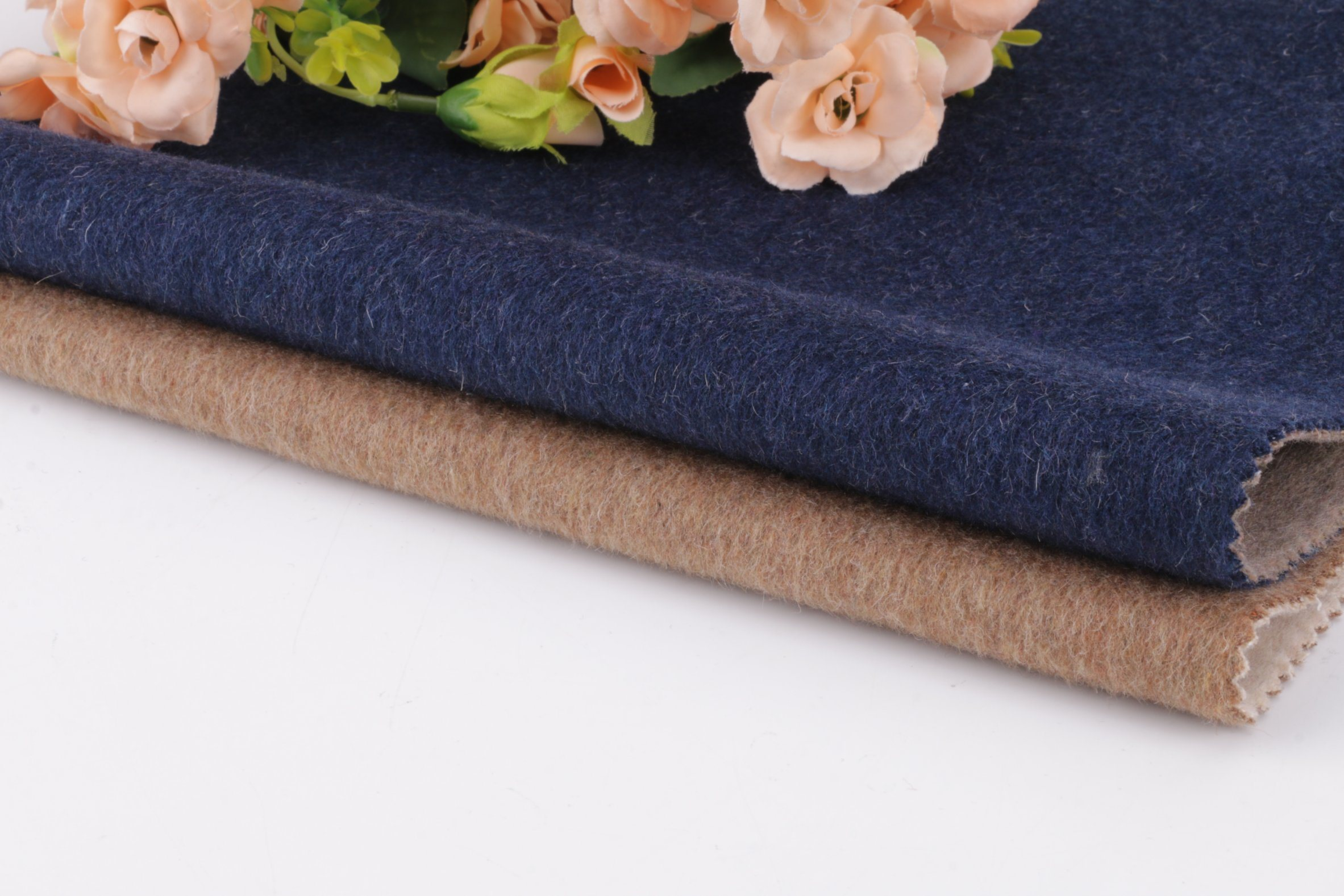 Tejido de lana, tejido de lana Two-Tone de doble cara de abrigo, el nuevo estilo