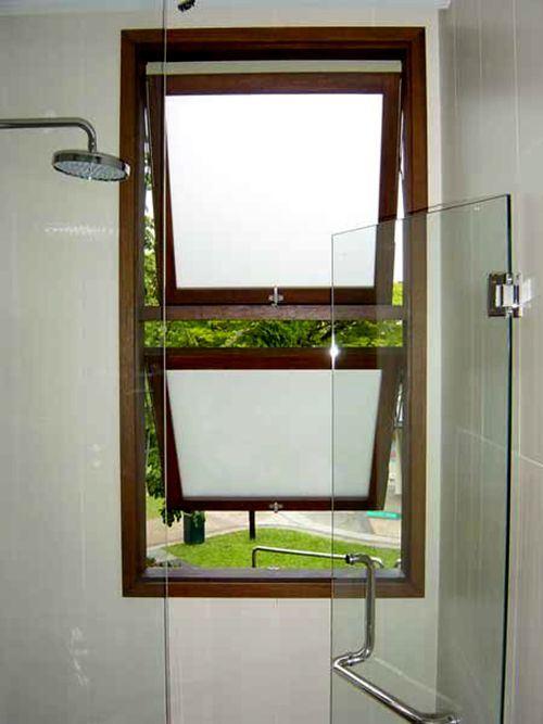 Petite Taille Fenêtre Salle De Bains En Aluminium En Verre Dépoli - Verre fenetre salle de bain