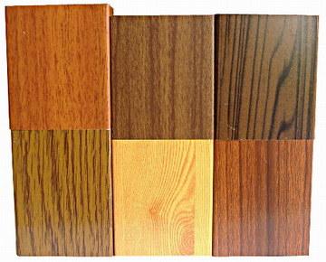Passage en bois profilé en aluminium
