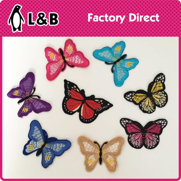 자수 나비 패치에 도매 철