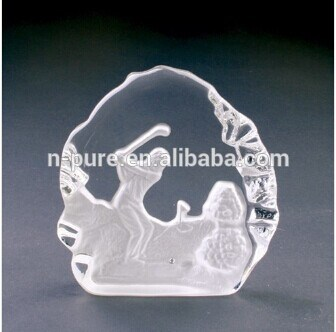 3 D esculpido Crystal Iceberg