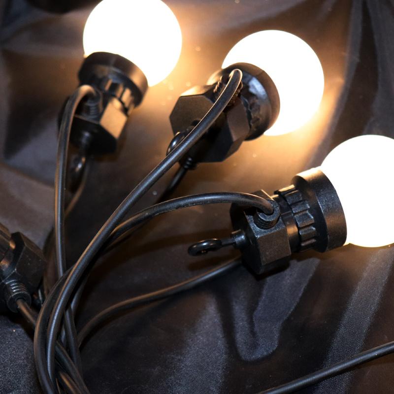 10L RGB 투명한 거품 크리스마스 훈장 LED 옥외 당 빛