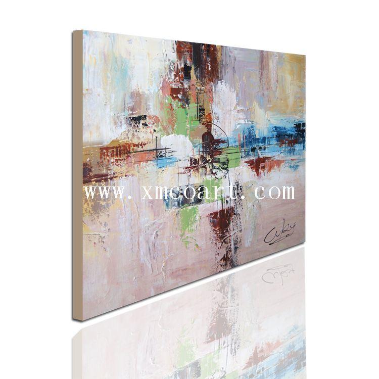 100% Huile sur toile abstraite artisanal (nouveau-196)