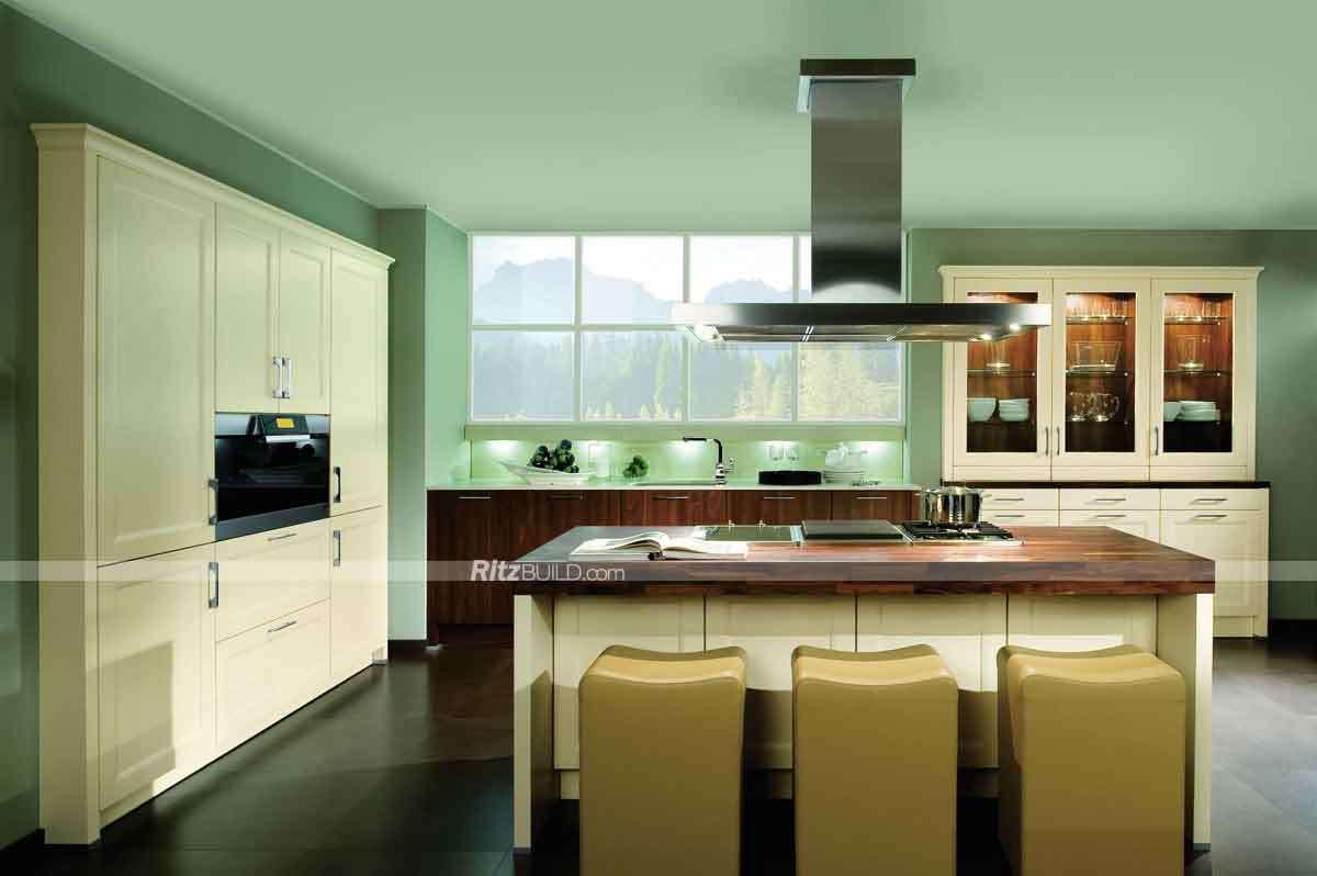 Foto de Tamaño modulares de madera sólida mueble de cocina cocina ...