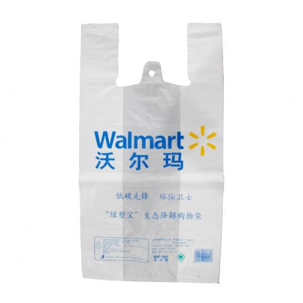 12ffc24cc Embalaje biodegradable T-Shirt Gracias compras baratas impresas  personalizadas bolsas de plástico