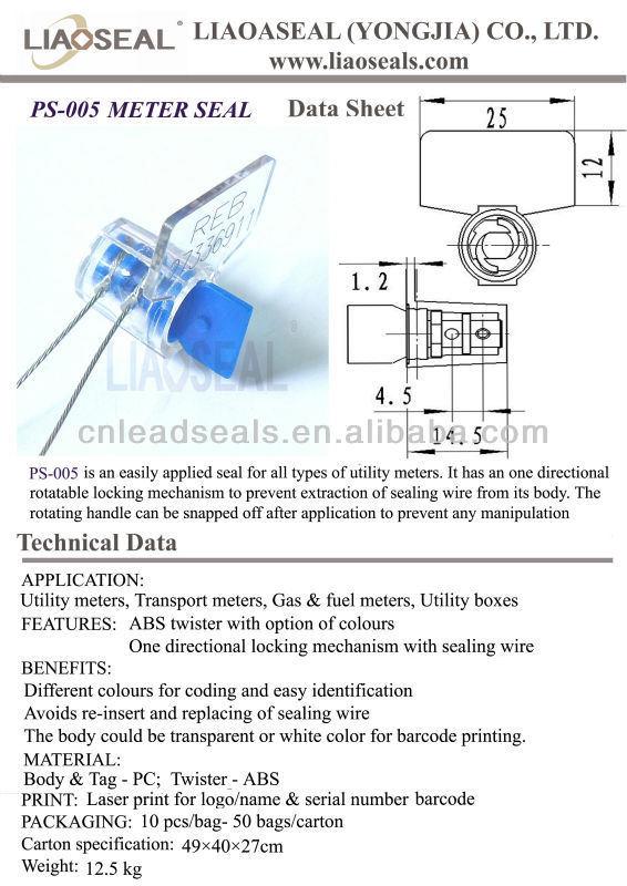 PS-005 Twist Tite sello dosificador
