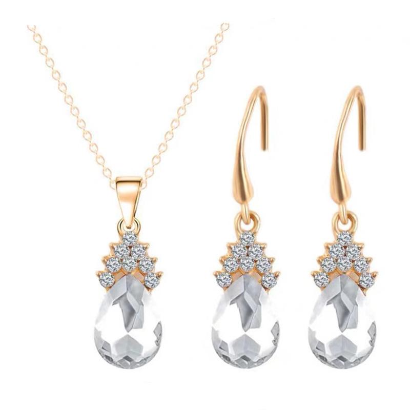 새로운 최고 금 또는 짜개진 조각 격판덮개 스테인리스 보석 세트는 펀던트 목걸이 또는 귀걸이 또는 팔찌 여자를 당 보석 세트 떠난다