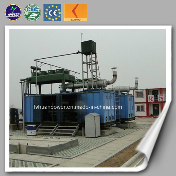 400kw/500kVA Container Silent Type Cogeneration Methane Natural Gas Generator mit CER u. ISO