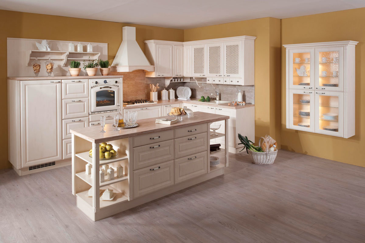 Home oferta de muebles de madera sólida mueble de cocina con ...