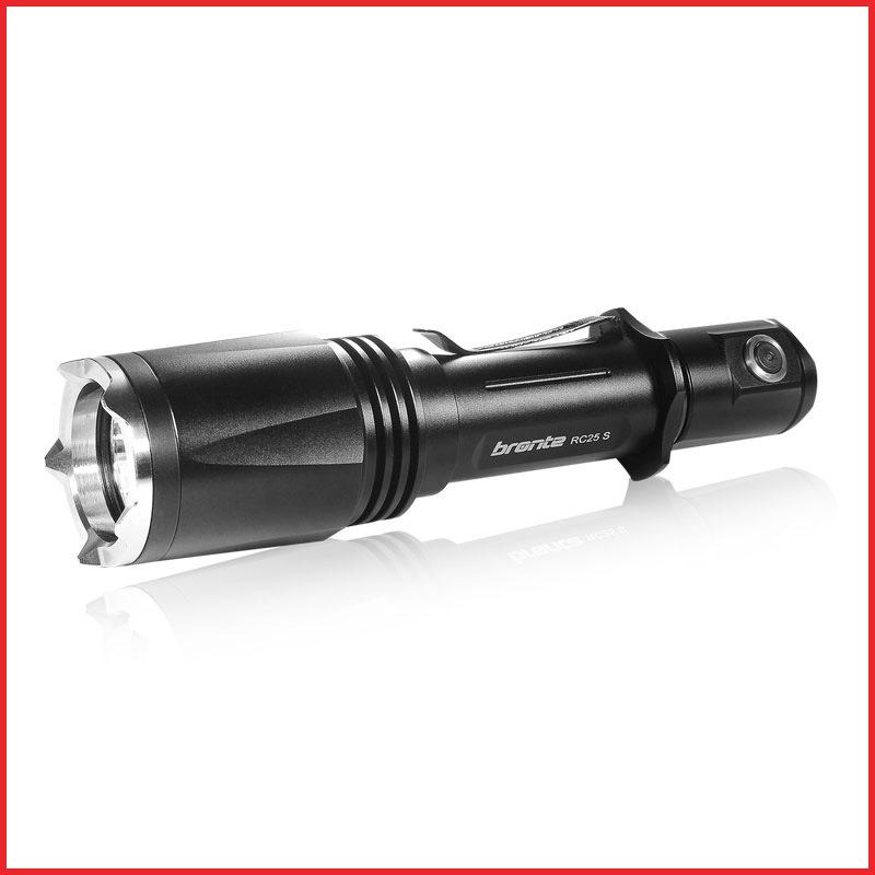 980 lúmenes de linterna de alto nivel de brillo de la policía de Lumen cree linterna LED con control remoto