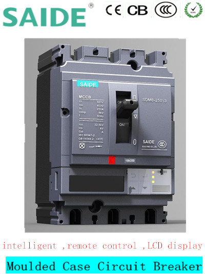 schermo dell'affissione a cristalli liquidi dell'interruttore 3p MCCB di caso modellato 250A